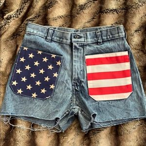 Urban Outfitters American Flag Shorts
